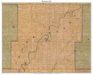 Washington, Indiana 1855 Old Town Map Custom Print - Marion Co.