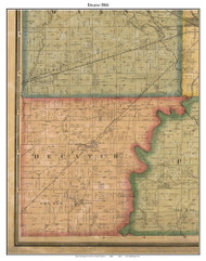 Decatur, Indiana 1866 Old Town Map Custom Print - Marion Co.