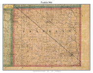 Franklin, Indiana 1866 Old Town Map Custom Print - Marion Co.