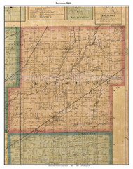 Lawrence, Indiana 1866 Old Town Map Custom Print - Marion Co.