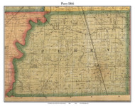 Perry, Indiana 1866 Old Town Map Custom Print - Marion Co.