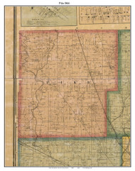 Pike, Indiana 1866 Old Town Map Custom Print - Marion Co.