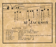 Mount Jackson, Wayne, Indiana 1866 Old Town Map Custom Print - Marion Co.