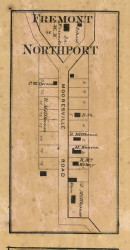 Fremont and Northport Village, Decatur, Indiana 1866 Old Town Map Custom Print - Marion Co.