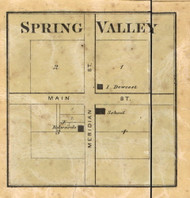 Spring Valley Village, Decatur, Indiana 1866 Old Town Map Custom Print - Marion Co.