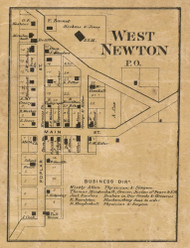 West Newton Village, Decatur, Indiana 1866 Old Town Map Custom Print - Marion Co.