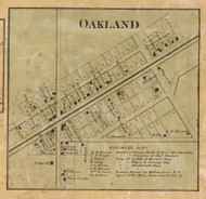 Oakland Village, Lawrence, Indiana 1866 Old Town Map Custom Print - Marion Co.