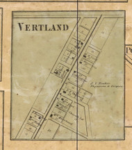 Vertland Village, Lawrence, Indiana 1866 Old Town Map Custom Print - Marion Co.
