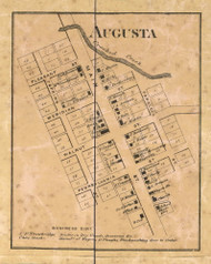 Augusta Village, Pike, Indiana 1866 Old Town Map Custom Print - Marion Co.