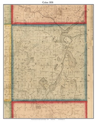Colon, Michigan 1858 Old Town Map Custom Print - St. Joseph Co.