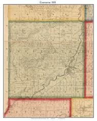 Constantine, Michigan 1858 Old Town Map Custom Print - St. Joseph Co.