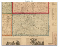 Fawn River, Michigan 1858 Old Town Map Custom Print - St. Joseph Co.