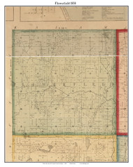 Flowerfield, Michigan 1858 Old Town Map Custom Print - St. Joseph Co.