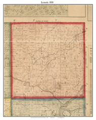 Leonida , Michigan 1858 Old Town Map Custom Print - St. Joseph Co.