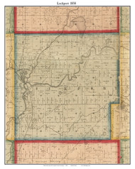 Lockport, Michigan 1858 Old Town Map Custom Print - St. Joseph Co.