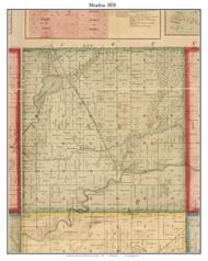 Mendon, Michigan 1858 Old Town Map Custom Print - St. Joseph Co.