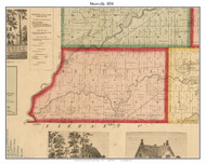 Mottville, Michigan 1858 Old Town Map Custom Print - St. Joseph Co.