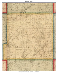Nottawa, Michigan 1858 Old Town Map Custom Print - St. Joseph Co.