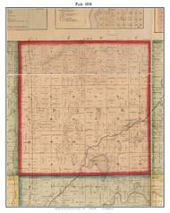 Park, Michigan 1858 Old Town Map Custom Print - St. Joseph Co.