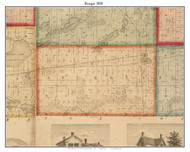Sturgis, Michigan 1858 Old Town Map Custom Print - St. Joseph Co.