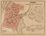 Colon Village, Colon, Michigan 1858 Old Town Map Custom Print - St. Joseph Co.