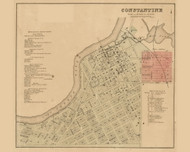 Constantine Village, Constantine, Michigan 1858 Old Town Map Custom Print - St. Joseph Co.