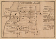 Flowerfield Village, Flowerfield, Michigan 1858 Old Town Map Custom Print - St. Joseph Co.