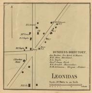 Leonidas Village, Leonida, Michigan 1858 Old Town Map Custom Print - St. Joseph Co.