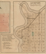 Lockport Village, Lockport, Michigan 1858 Old Town Map Custom Print - St. Joseph Co.