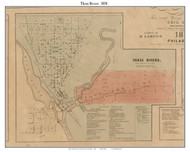 Three Rivers Village, Lockport, Michigan 1858 Old Town Map Custom Print - St. Joseph Co.