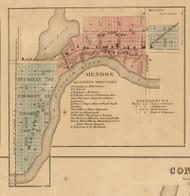 Mendon Village, Mendon, Michigan 1858 Old Town Map Custom Print - St. Joseph Co.