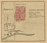 Parkville Village, Park, Michigan 1858 Old Town Map Custom Print - St. Joseph Co.