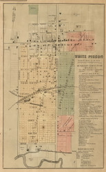 White Pigeon Village, White Pigeon, Michigan 1858 Old Town Map Custom Print - St. Joseph Co.