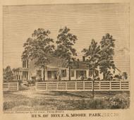 Moore Residence, Park, Michigan 1858 Old Town Map Custom Print - St. Joseph Co.