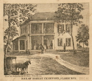 Crawford Residence, Florence, Michigan 1858 Old Town Map Custom Print - St. Joseph Co.