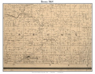 Brown, Indiana 1864 Old Town Map Custom Print - Montgomery Co.