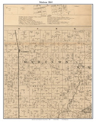 Madison, Indiana 1864 Old Town Map Custom Print - Montgomery Co.