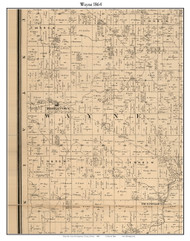Wayne, Indiana 1864 Old Town Map Custom Print - Montgomery Co.