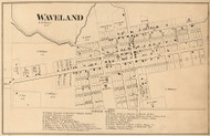 Waveland Village, Brown, Indiana 1864 Old Town Map Custom Print - Montgomery Co.
