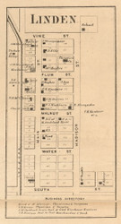 Linden Village, Madison, Indiana 1864 Old Town Map Custom Print - Montgomery Co.