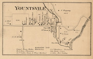 Yountsville Village, Ripley, Indiana 1864 Old Town Map Custom Print - Montgomery Co.