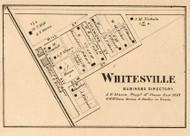 Whitesville Village, Union, Indiana 1864 Old Town Map Custom Print - Montgomery Co.