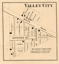 Valley City Village, Walnut, Indiana 1864 Old Town Map Custom Print - Montgomery Co.