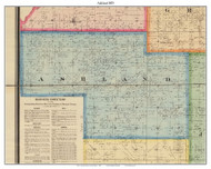 Ashland, Indiana 1875 Old Town Map Custom Print - Morgan Co.