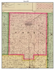Brown, Indiana 1875 Old Town Map Custom Print - Morgan Co.