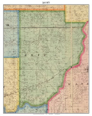 Jeff, Indiana 1875 Old Town Map Custom Print - Morgan Co.
