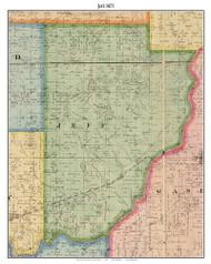 Jeff, Indiana 1875 Old Town Map Custom Print - Morgan Co.