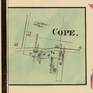 Cope Village, Green, Indiana 1875 Old Town Map Custom Print - Morgan Co.