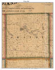 Orange, Indiana 1860 Old Town Map Custom Print - Noble Co.