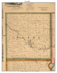Perry, Indiana 1860 Old Town Map Custom Print - Noble Co.